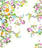 Blossom cherry tree stock illustration