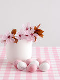 Blossom and Chocolate mini eggs Royalty Free Stock Image