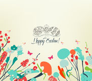 Blossom Into easter eggs vintage Royalty Free Stock Photo