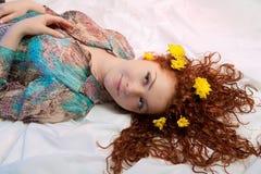 Blossom Hair Stock Image