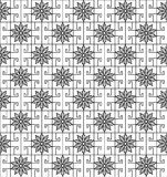 Blossom pattern with square shapes Royalty Free Stock Images
