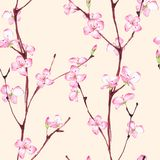 Blossom. Seamless floral pattern 3 stock illustration