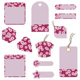 Blossom tags and tabs Royalty Free Stock Photos