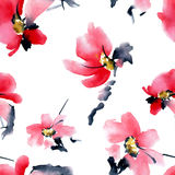 Blossom tree pattern Stock Images