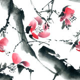 Blossom tree pattern Royalty Free Stock Photography