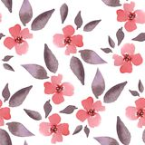 Blossom. Watercolor floral background. Seamless pattern 1. Hand drawn seamless floral pattern Royalty Free Stock Image