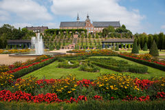 Blossoming цветет публично парк около монастыря Стоковые Фото