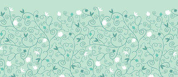 Blossoming  Branches Horizontal Seamless Pattern Border Royalty Free Stock Photography