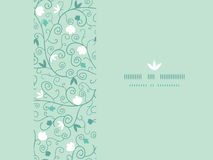 Blossoming Branches Horizontal Seamless Pattern Stock Photos