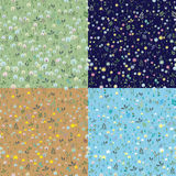 Blossoming Seamless patterns stock image