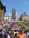 Blossoming Spanish Steps in May days Stock Photo