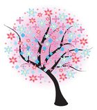Blossoming spring tree. Vector illustration. Royalty Free Stock Image