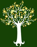 Blossoming tree. Cute stylized illustration of a tree in spring Stock Photo