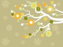 Blossoming tree. Cute stylized illustration of a tree in spring Royalty Free Stock Image