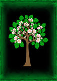 Blossoming tree with background Royalty Free Stock Photography