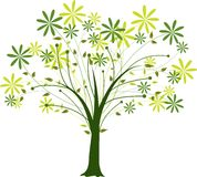 Blossoming tree, vector Royalty Free Stock Photography