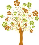 Blossoming tree, vector stock image