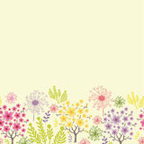Blossoming trees horizontal seamless pattern Royalty Free Stock Photo