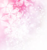 Blossoms and Bokeh Illustration Stock Images