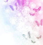 Blossoms and Butterflies Illustration. Blossoms and butterflies pastel illustration Stock Photo