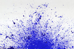 Blot of blue paint. Royalty Free Stock Image