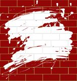 Blot on a brickwall. Isolated raster version of vector brickwall with a blot (contain the Clipping Path) There is in addition a vector format (EPS 8 vector illustration
