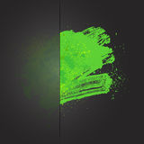 Blot brush 01 green. Color spray background, vector illustration stock illustration
