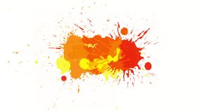 Yellow-orange blot on alpha channel. Blot drips onto a transparent background and spreads over it. Great background for your text or decoration design of your vector illustration