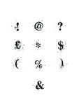 Blot Font Special Characters set Royalty Free Stock Images