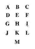 Blot Font A to M Stock Photos