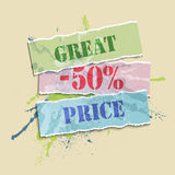 Blot great price color Royalty Free Stock Images