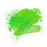 Blot 09 green. Smudge and smear a green brush on a white background, illustration clip-art Stock Photo