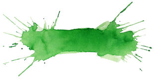 Blot of green watercolor Stock Images