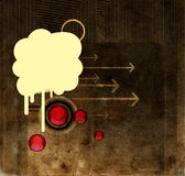 Blot on grunge background. Blot over a grunge background with arrows and circles Stock Photo