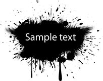 Blot with halftone dots. Royalty Free Stock Photos