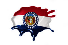 Blot with missouri state flag. On the white background.3D illustration Stock Photo