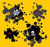 Blot monsters. Royalty Free Stock Images