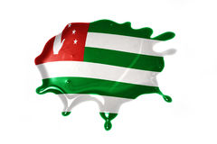 Blot with national flag of abkhazia Royalty Free Stock Photography