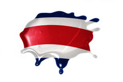 Blot with national flag of costa rica Stock Photos