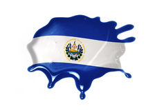 Blot with national flag of el salvador Royalty Free Stock Images