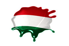 Blot with national flag of hungary Stock Image