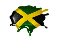 Blot with national flag of jamaica. On the white background royalty free stock photos