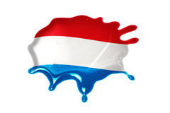 Blot with national flag of luxembourg stock images