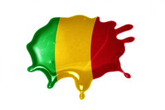 Blot with national flag of mali Royalty Free Stock Photography