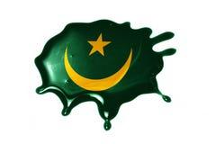 Blot with national flag of mauritania Stock Photos