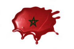 Blot with national flag of morocco. On the white background stock photo