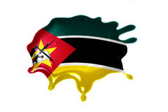 Blot with national flag of mozambique Royalty Free Stock Image