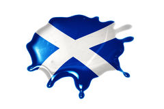 Blot with national flag of scotland. On the white background stock images