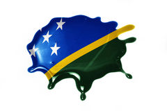 Blot with national flag of Solomon Islands Stock Images