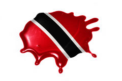 Blot with national flag of trinidad and tobago Royalty Free Stock Image